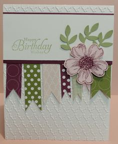 ms used are Stampin' Up! Stamp Sets: Flower Shop, Create a