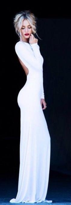 Fashion hot sexy long dress pure