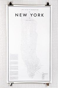 My Guide to Manhattan by graphic desiger duo Ehrenstråhle & Wågnert. Comes in two sizes and with limited edition. Manhattan 2013 will be produced in 2000 copies. This one is in size 58 x 100cm