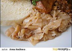 Karamelizované hlávkové zelí recept - TopRecepty.cz Grains, Rice, Meat, Chicken, Food, Meals, Yemek, Laughter, Buffalo Chicken