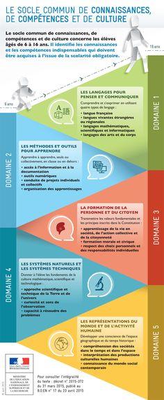 Le socle commun de connaissances, de compétences et de culture - Ministère de l'Éducation nationale et de la Jeunesse