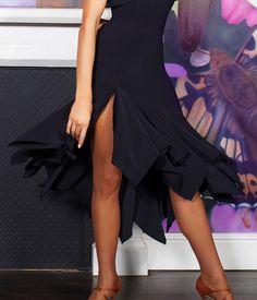 Chrisanne Waterfall Latin Dance Skirt   Dancesport Fashion @ DanceShopper.com