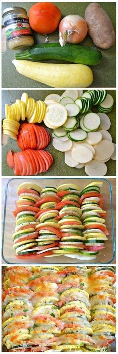 "Summer Vegetable Tian ""Looks good! I am definitely going to have to try this recipe! The post Summer Vegetable Tian appeared first on All The Food That's Fit To Eat . Healthy Snacks, Healthy Eating, Healthy Recipes, Yummy Recipes, Clean Recipes, Dinner Healthy, Eating Clean, Healthy Dishes, Healthy Summer"