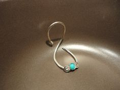 EDS Arthritis Swan Neck Silver Splint Ring with Turquoise Gemstone by JewelSplint on Etsy