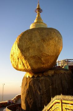Golden Rock - Visit http://www.amazingplacesonearth.com/ for more good stuff :)