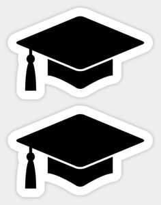 Shop Graduation cap black mortar board hat graduation cap stickers designed by Mhea as well as other graduation cap merchandise at TeePublic. Graduation Party Desserts, Graduation Crafts, Graduation Cupcake Toppers, Graduation Party Centerpieces, Graduation Cupcakes, Graduation Decorations, Graduation Party Decor, Preschool Graduation, Graduation Ideas