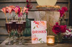 A Terrain at Glen Mills Wedding - drink stirrers by Sparkle Motion Decor!