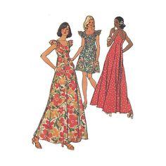 Womens Scoop Neck MuuMuu Maxi Dress in Two Lengths by Redcurlzs