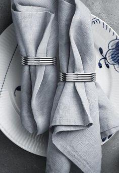 Georg Jensen Bernadotte Napkin Ring 2pcs 喬治傑生 王子系列 不鏽鋼 餐巾束環 兩件組