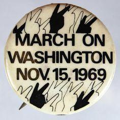 March on Washington Pin November 15, 1969