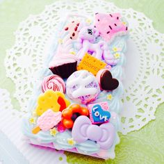Sweet Kawaii Pony Candy Decoden Case for iPhone 4 by Lucifurious, $32.00