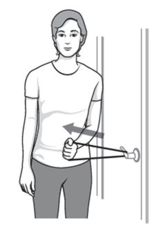 Frozen shoulder (also known as adhesive capsulitis) is a condition in which the shoulder is stiff, painful, and has limited motion in all directions.Stretching exercises are usually the cornerstone of treating frozen shoulder.Always warm up your shou...