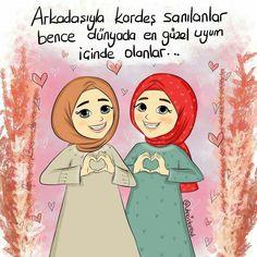 Pencil Sketches Of Girls, Friends Illustration, Anime Muslim, Hijab Cartoon, Love In Islam, Cute Love Gif, Learn Islam, Hafiz, Girl Sketch