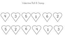 Valentine math activity via   www.pre-kpages.com/valentine/