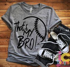 Baseball SVG, That's my Bro Biggest Fan svg, Brother Biggest Fan, Softball Fan shirt design, Basebal - baseball mom shirts - Sports Mom Shirts, Baseball Mom Shirts, T Shirts For Women, Softball Shirt Ideas, Softball Tattoos, Baseball Stuff, Baseball Sister, Baseball Boys, Baseball Cleats
