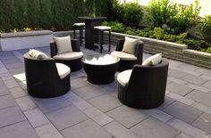 Patio landscaping idea.