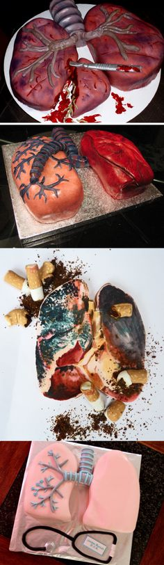 Lung cakes- i find this disturbingly fascinating:D
