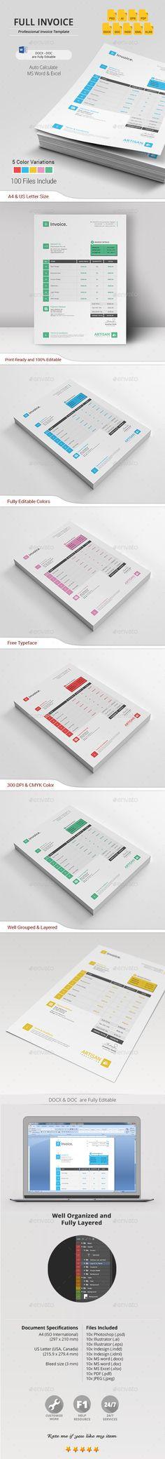 invoice | illustrators, ai illustrator and invoice template, Invoice examples