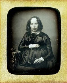 ca. 1850 [daguerreotype portrait of a pregnant women in a fine dress and curls] via Be-Hold, Fine Photographs Vintage Photos Women, Antique Photos, Vintage Images, Time Pictures, Old Pictures, Old Photos, Louis Daguerre, Photographs Of People, Vintage Photographs