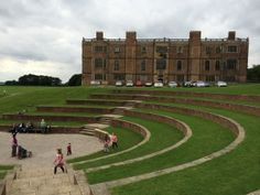 House-and-amphitheatre-at-Temple-Newsam, Leeds Rule Britannia, West Yorkshire, Leeds, Statues, Temple, England, Cabin, Memories, Country