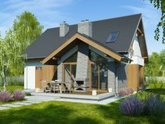 DOM.PL™ - Projekt domu FA Telimena CE - DOM GC6-29 - gotowy koszt budowy Small House Design, Design Case, House Plans, Shed, Outdoor Structures, Exterior, House Styles, Building, Outdoor Decor