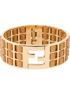 Fendi Logo Torque Bracelet