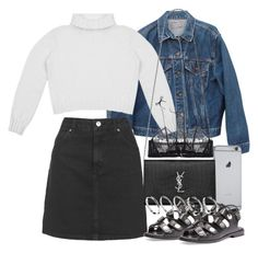 """""""Untitled #2021"""" by mariie00h ❤ liked on Polyvore featuring Levi's, Topshop, Yves Saint Laurent, La Perla, Alexander Wang and ASOS"""
