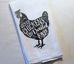 Farmhouse Decor, Funny Dish Towel, Tea Towels, Wicked Chickens, Kitchen Decor, Chicken Decor, Gifts for Her, Kitchen Towels, Flour Sack