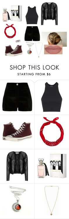 """Bad Wolf ;)"" by jaderoseee ❤ liked on Polyvore featuring River Island, Topshop, Converse, Zizzi and Michael Kors"