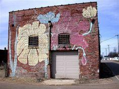 painted garage in Alligator (Mississippi Delta) -- Where Rebels Roost!