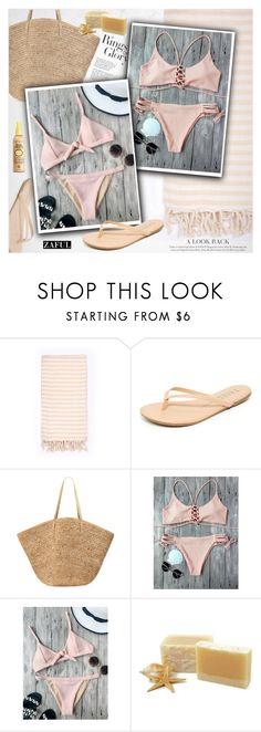 """Beach time"" by vanjazivadinovic ❤ liked on Polyvore featuring Turkish-T, Tkees, Flora Bella, Tiffany & Co., Forever 21, bikini, polyvoreeditorial and zaful"