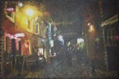 Ashton Lane  91cm x 61cm   acrylic on canvas