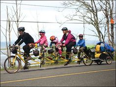 Family riding to Alaska on bicycle built (in Eugene) for 5 | Co-Motion bicycle