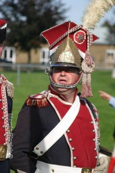 French Army Lancer uniform worn by a reenactor during the Napoleonic era, circa 1812.
