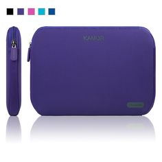 Kamor 11 inch Water-resistant Neoprene Laptop Sleeve Case Bag / Notebook Computer Case / Briefcase Carrying Bag / Ultrabook Laptop Bag Case / Pouch Cover / Skin Cover with thickness for Acer / Asus / Dell / Fujitsu / Lenovo / HP / Samsung / Neoprene Laptop Sleeve, Laptop Sleeves, Computer Case, Laptop Case, Purple Bags, Latest Gadgets, Chromebook, Briefcase, Computer Accessories