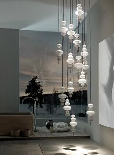 MYTH: LEDs don't dim well. FACT: Most LEDs dim perfectly, but you may need to replace your old dimmer with an LED compatible dimmer. Interior Lighting, Home Lighting, Modern Lighting, Lighting Design, Pendant Lighting, Modern Lamps, Direct Lighting, Pendant Chandelier, Interior Ideas