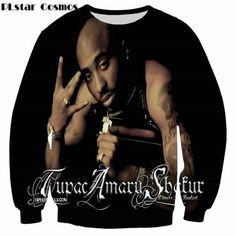 PLstar Cosmos 2018 New Fashion 3d sweatshirts Legend Rapper Tupac 2Pac printed  Men Women pullover Harajuku casual hoodies 709bfe860e77