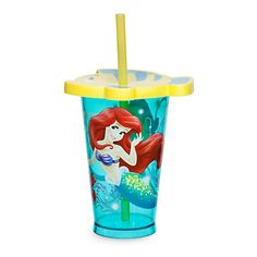 [Fish lips]Flounder caps off this novel tumbler with a lid fashioned in the form of Ariel's fishy little friend. The Disney Princess is also joined by Sebastian as the characters from <i>The Little Mermaid</i> stand out against a sea of blue.