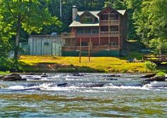 Ellijay Vacation Rental - VRBO 324274 - 3 BR Northwest High Country Lodge in GA, Riverstone Lodge on a North Geogia Mountain River, Ellijay,...