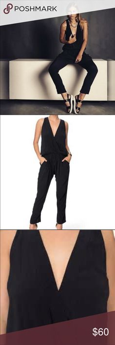 SALE!!!!!Word on the street jumpsuits Black drop crotch jumpsuit , or blue checkered as featured in last photo. Comfortable fit, invisible back zipper, criss cross breast area , and ankle pant with slit. Limited edition line is now on sale as I'm trying to rid the left overs for new inventory ! Australian designer brand the shanti butterfly Pants Jumpsuits & Rompers