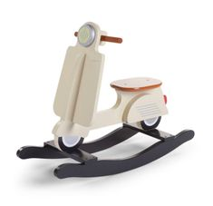 The cream-coloured rocking scooter will give your nursery a bit of European flair. The rocking scooter features long runners to minimize tipping so your child can rock safely for many years and is the perfect way to teach your little one balance and co-or Kids Ride On Toys, Kids Toys, Kids Rocking Horse, Mint Blue, Baby Furniture, Wood Toys, Horses, Child's Room, Kid Furniture