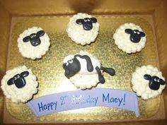 Shaun the Sheep cupcakes for @claireej