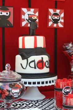 Ninja cake so cool for a little boy