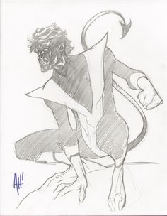 Nightcrawler sketch by Adam Hughes