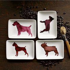 dog plates by Scott Lifshutz for west elm