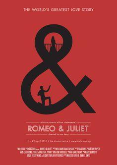 Romeo & Juliet Poster Series 1 in Posters Romeo And Juliet Poster, Romeo Und Julia, Play Poster, Romeo Y Julieta, Plakat Design, Poster Series, Cinema Posters, Creative Posters, William Shakespeare