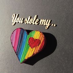 """Quilling rainbow heart quilling love  all_art_21 on Instagram: """"""""You stole my heart""""🌈❤️ . . . . . . #ipreview via @preview.app #quilling #quillingart #quillingheart #quillingcreations #paperart…"""" Quilling Art, Paper Art, Artworks, Sunglasses Case, Photo And Video, Instagram, Heart, Papercraft, Quilling"""