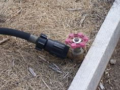Raised bed box with tap and hose-end pressure regulator
