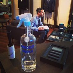 #Vodka - a quick fix to keep your suit fresh. Just put a small amount of vodka into a spray bottle and give it a few spritzes, it's even better than using a product like Febreeze, which can leave a telltale scent behind. #custom #quickfix #mensfashion #melbourne