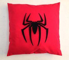 Spiderman Red Retro Superhero Cushion Pillow by BeUniqueBaby